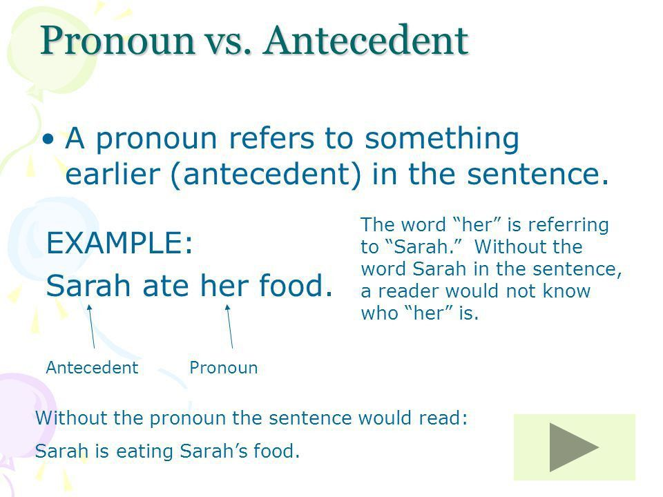 Do you agree? Pronoun/Antecedent Agreement By Mrs. Peterson ...