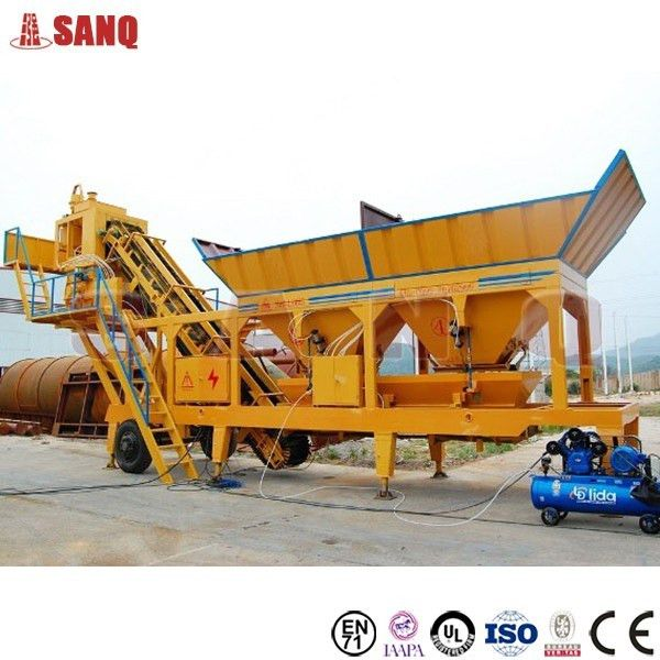 Yhzs50 Mobile Concrete Batching Plant In Myanmar With Best ...