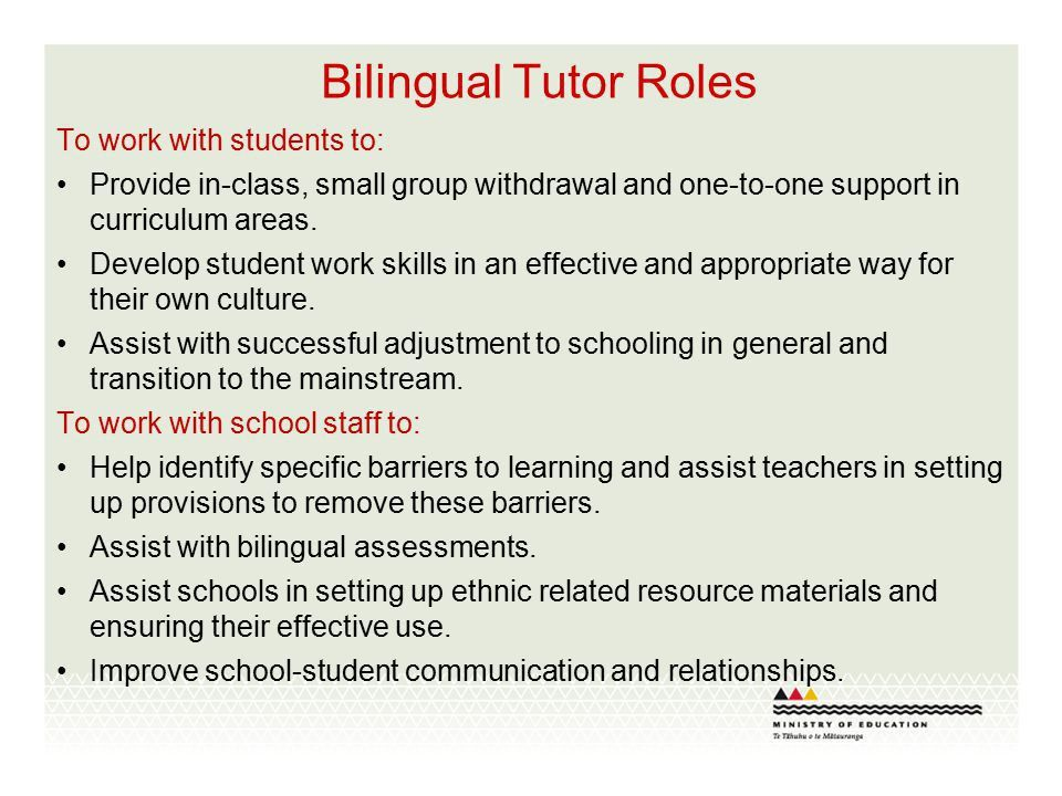 Roles and Responsibilities of Bilingual Liaison and Bilingual ...