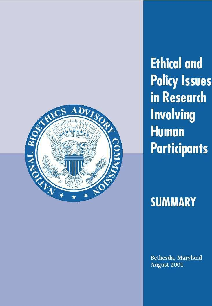 Ethical and Policy Issues in Research Involving Human Participants ...