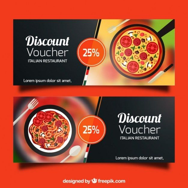 Discount vouchers banners design Vector | Free Download
