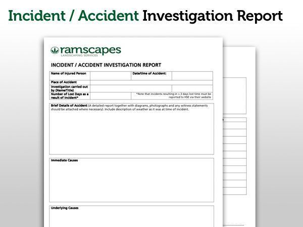 Investigation Report Template. Accident And Incident Report Form ...
