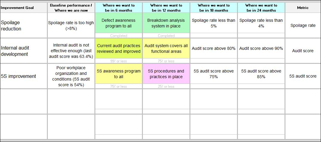 Improvement Roadmap Template | Continuous Improvement Toolkit