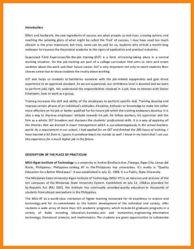 6+ sample of narrative report for ojt   nurse resumed