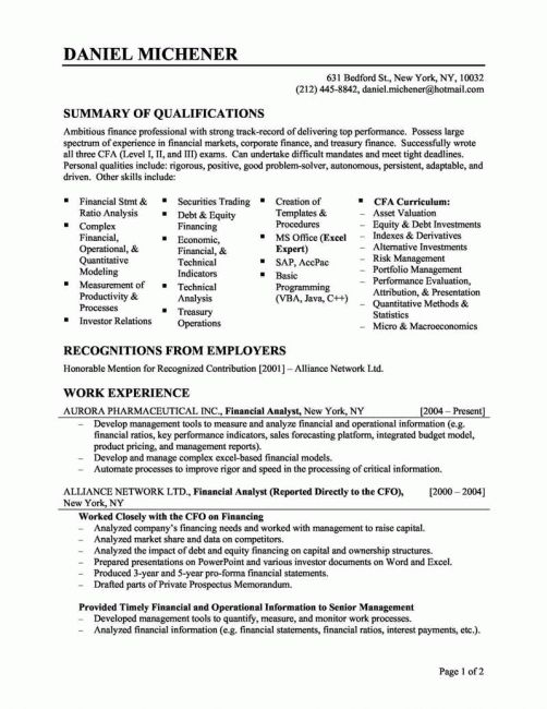 Great Objectives For Resumes Samples | resume template | Pinterest ...