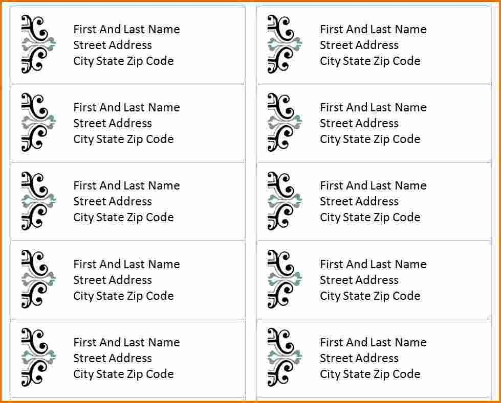 template for address labels | Divorce Document