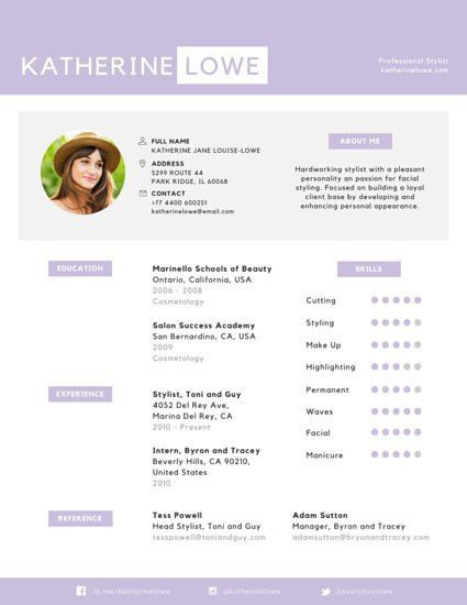 Appealing Professional Stylist Resume - Templates by Canva