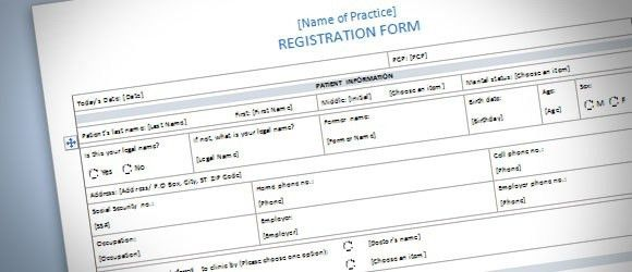 Patient Registration Form #Template for #Word #2013 | Pinterest ...