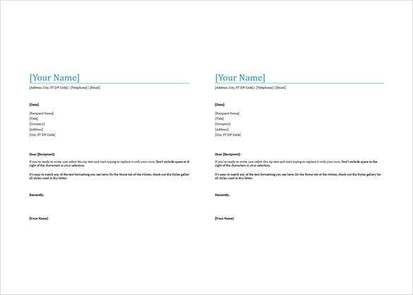 Ms Word 2007 Letterhead Templates - Resume Acierta.us