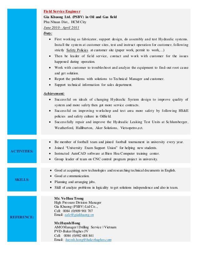 Download Halliburton Field Engineer Sample Resume ...