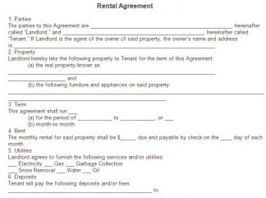 6 Free Rental Agreement Templates - Excel PDF Formats