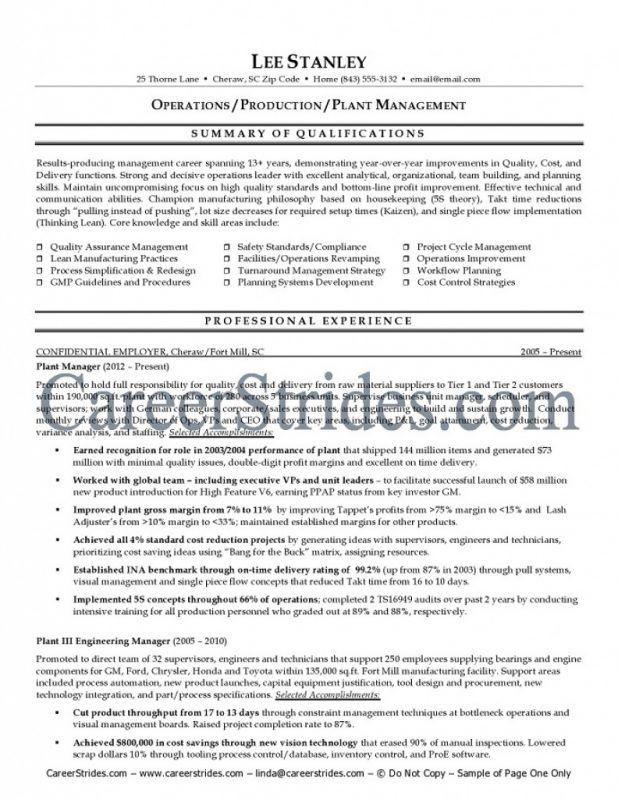 plant superintendent resume sample it manager resume resume it