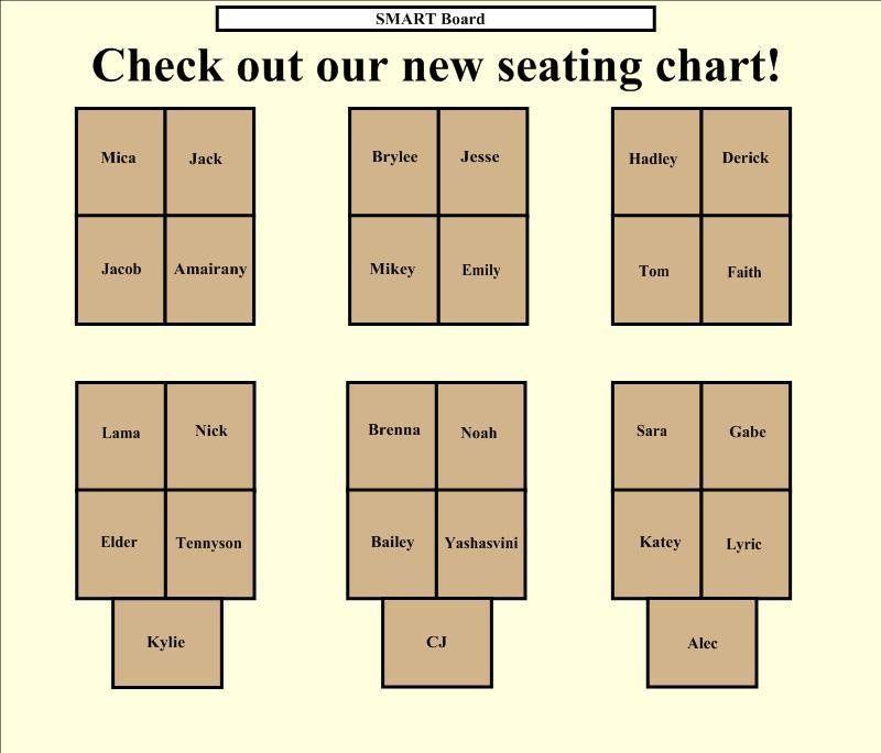 Seating Chart | Kristen Foley