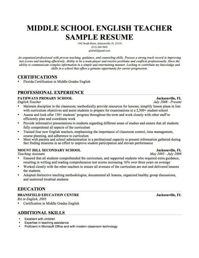 Teacher Resume Template 2017 | jennywashere.com