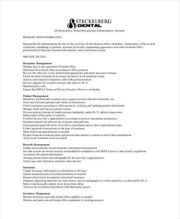 Dental Assistant Job Description. Dental Assistant Resume Examples ...