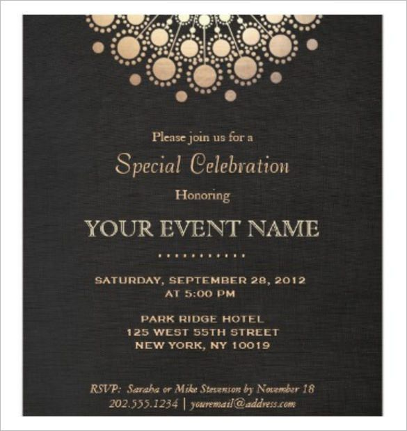 Invitation Template   37+ Free Printable Word, PDF, PSD, Publisher .