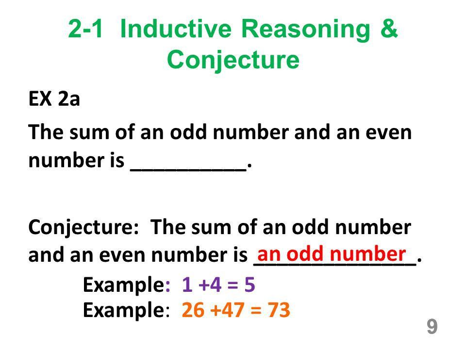 2-1 Inductive Reasoning & Conjecture - ppt download