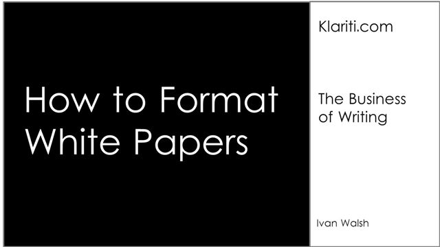 Tutorial] White Papers: 14 Writing Guidelines