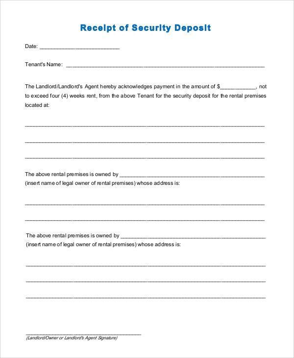 Sample Rental Receipt - 10+ Examples in PDF, Word