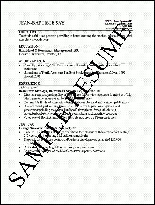 Simple Resume Format | haadyaooverbayresort.com