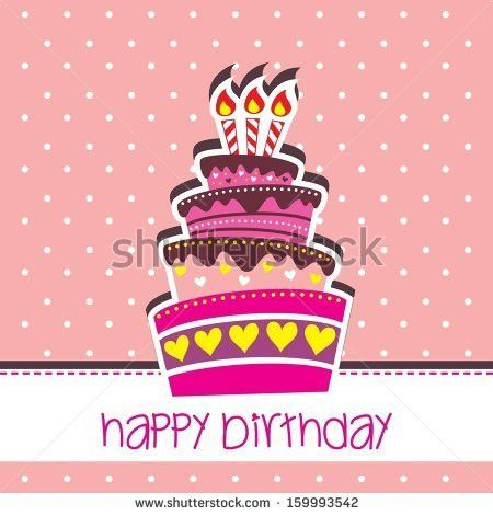 Happy Birthday Card Template Large Layered Stock Vector 161241971 ...