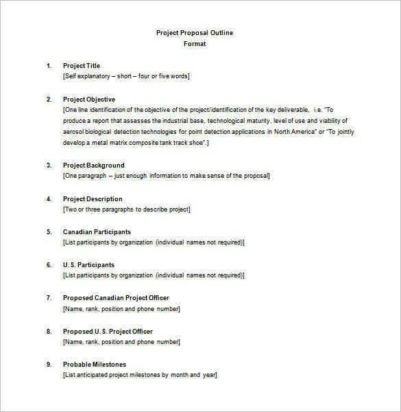 7+ project proposal outline | a cover letters