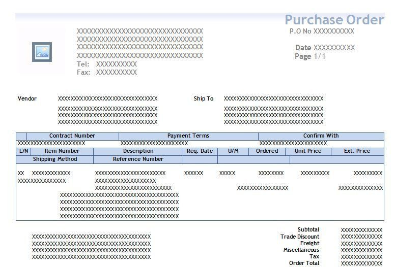 Printing Purchase order Template - Microsoft Dynamics GP Community ...