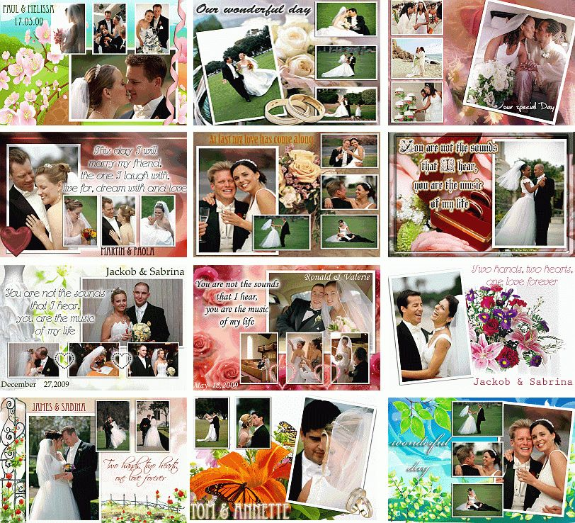 DIGITAL WEDDING ALBUM - 100 PAGES TEMPLATES Vol1 DVD | eBay