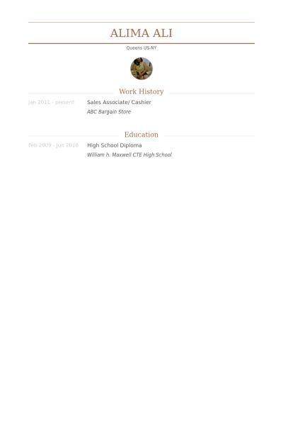 Sales Associate/ Cashier Resume samples - VisualCV resume samples ...