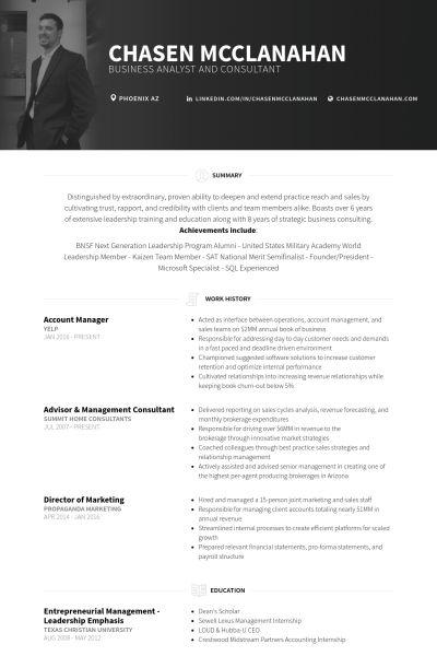 Account Manager Resume samples - VisualCV resume samples database