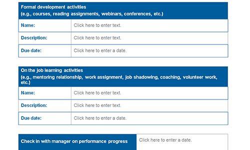Employee development templates   Download toolkit