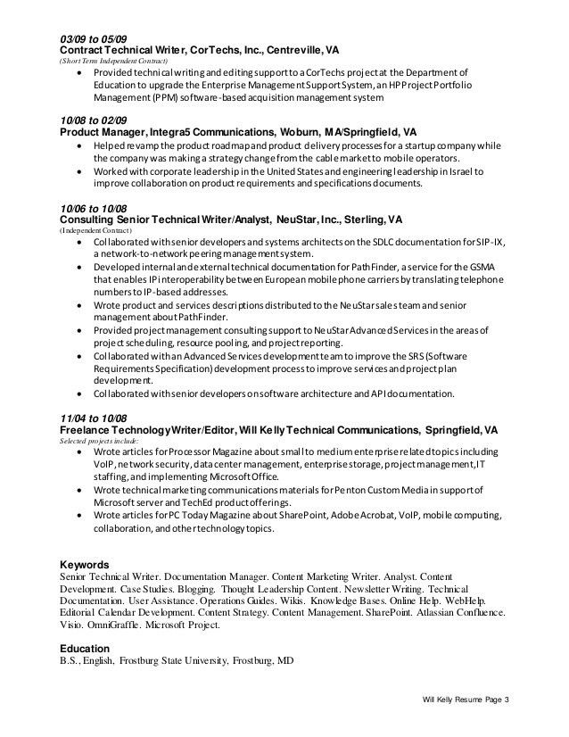 Creative Technical Writer Resume | Resume Template 2017