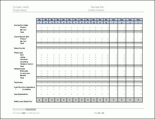 Business Plan Templates (40-Page MS Word + 10 Free Excel Spreadsheets)