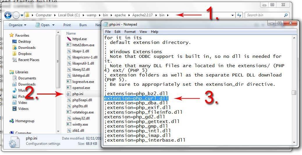 Enabling CURL in PHP (PHP.ini, WAMP, XAMPP, Ubuntu) - Tom Jepson