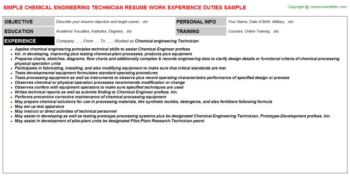 Chemical Technician Resume Professional Chemical Technicians - fire alarm technician resume