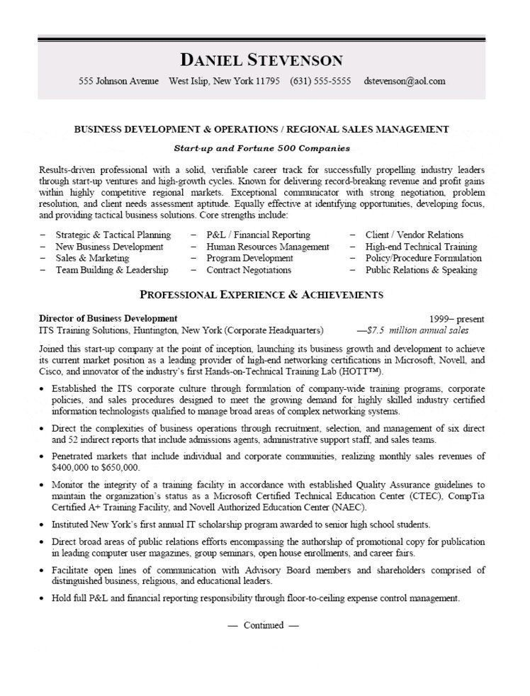 Regional Manager Resume Examples | Best Resume For You