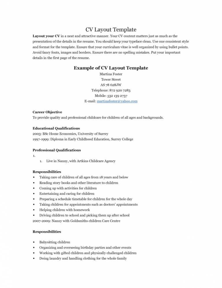 sample resume for first job