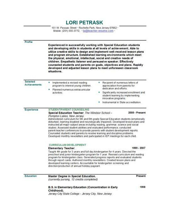 Cv Template Teacher Australia | http://webdesign14.com/