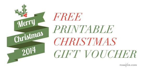 Free Christmas Gift Voucher Printable | Rossi Fox