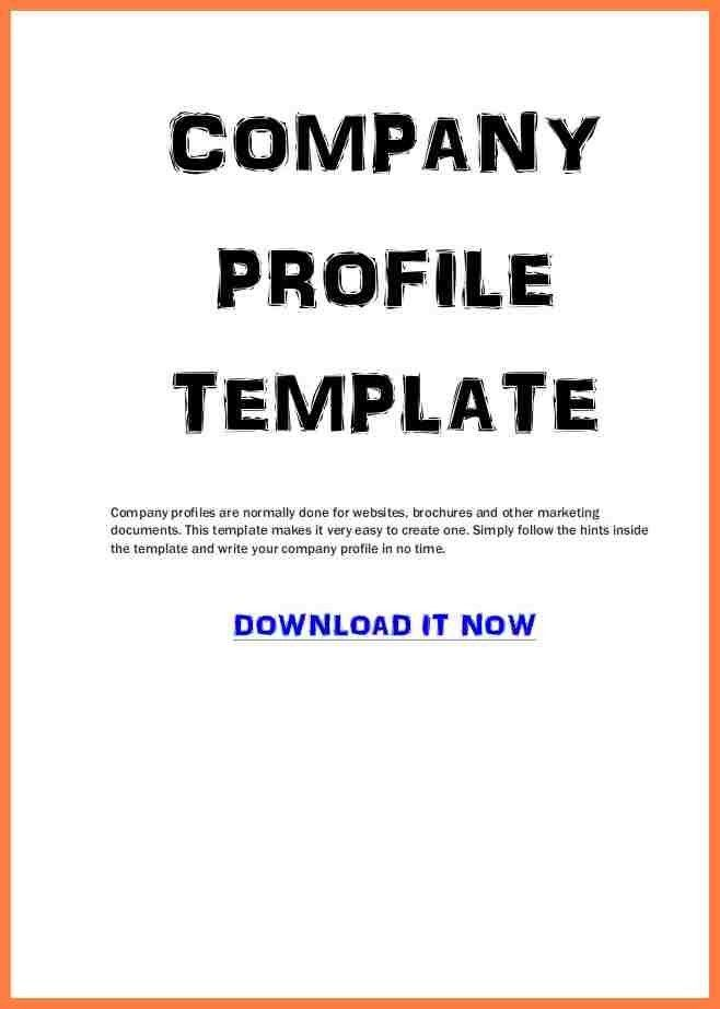 Example Of Company Profile Template, 32+ free company profile ...