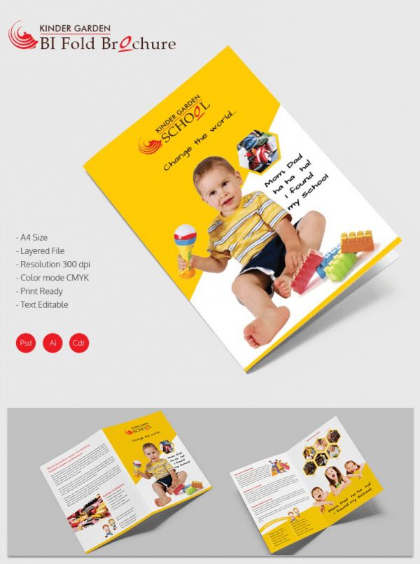 21+ Kindergarten Brochure Templates - Free PSD, EPS, AI, InDesign ...