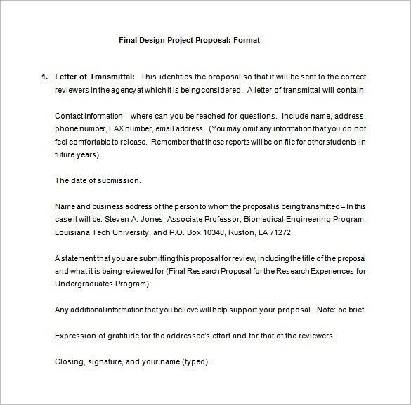 Design Proposal Template – 13+ Free Sample, Example, Format ...