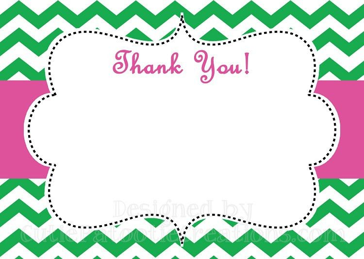 Thank You Card Template. Custom Card Template Baby Thank You Cards ...