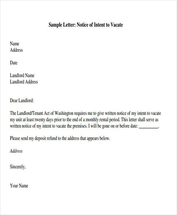Tenant Letter Templates - 8+ Free Sample, Example Format Download ...