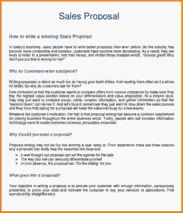 9+ sales proposal template | Letter Template Word