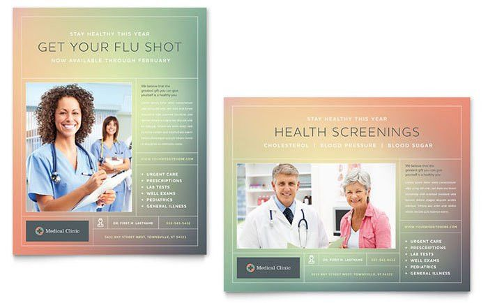 Medical Clinic Poster Template Design