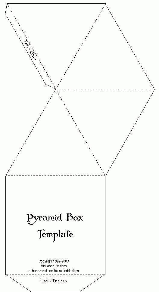 printable #templates.......Pyramid Box Template | Printable ...