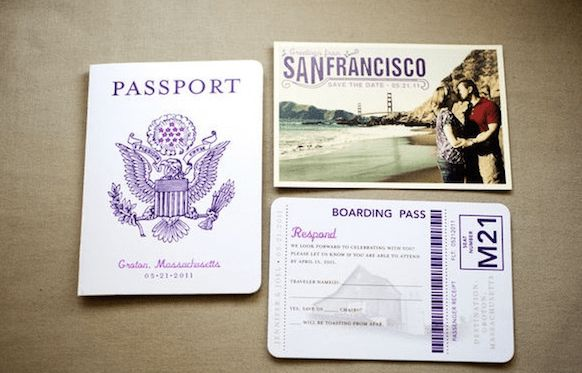 DIY Travel Invitations - Weddingbee