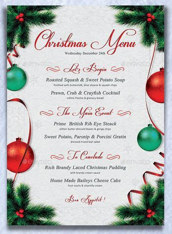 100+ Home Menu Template | 30 Christmas Menu Templates Free Sample ...