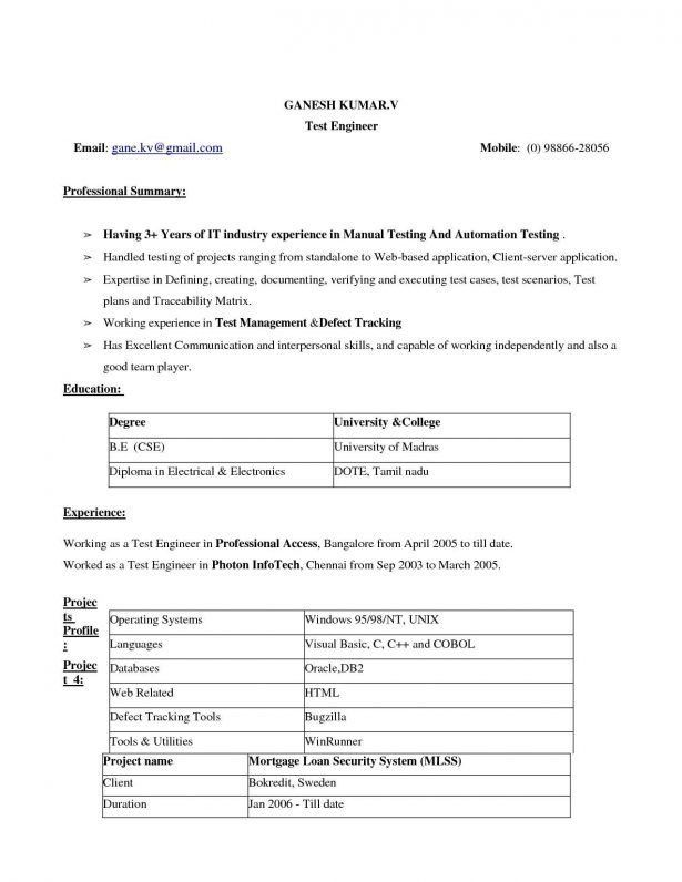 Resume : Best Resume Format For Experienced Professionals Want To ...